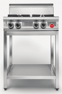 Cookon Commercial Heavy Duty gas 4 burner Cooktop on Stand
