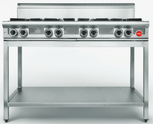 Cookon Commercial Heavy Duty gas 8 burner Cooktop on Stand