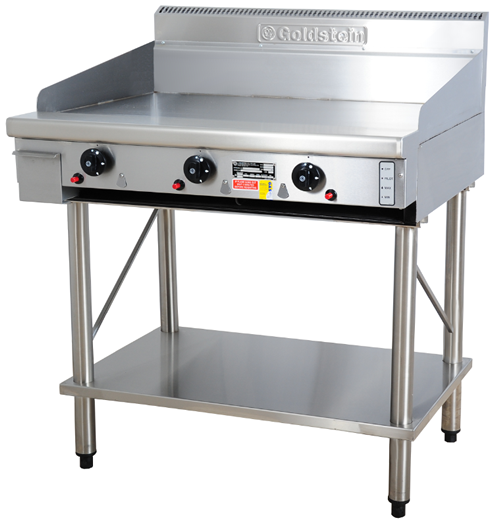 Goldstein 915mm wide gas Griddle on Legs Stand