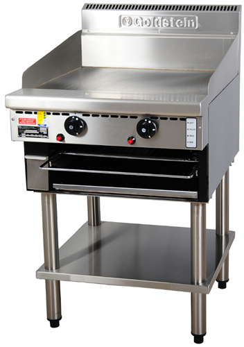 Goldstein 610mm wide gas Griddle & Toaster on Stand