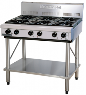 Goldstein 6 open burner gas Cooktop on Legs