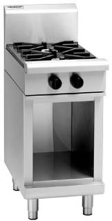 Waldorf 2 gas open burner Cooktop on Cabinet