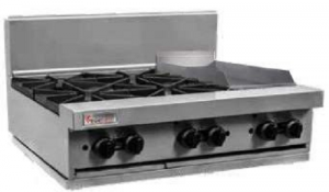 Trueheat 4 Open Burner & 300mm Griddle Gas Cooktop 900mm Wide