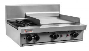 Trueheat 2 Open Burner & 300mm Griddle Gas Cooktop 600mm Wide