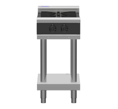 Waldorf Bold 450mm 2 x Burners Gas Cooktop - Leg Stand