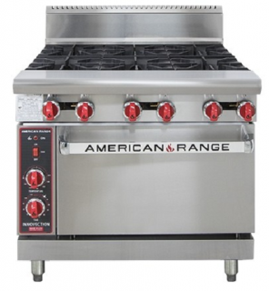 Amercian Range 36in' Gas Oven Range 914mm wide with 6 Burners