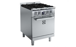 Electrolux 4 gas burner with static oven Compact Range