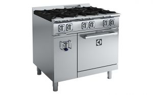 Electrolux 6 x gas burner with gas oven Compact Range