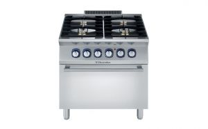 Electrolux Professional 700XP 4 gas burner electric oven range
