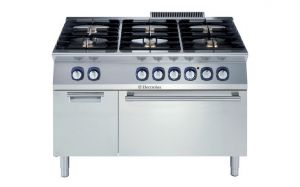 Electrolux Professional 700XP 6 gas burner electric oven range