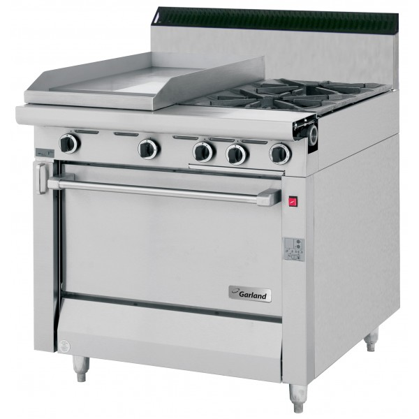 Garland Master Series 2 Burner, Griddle & Gas Oven Range