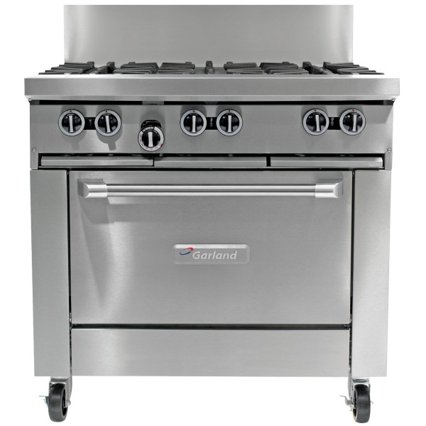 Garland 6 Open Burner & Gas Convection Oven Range 900mm