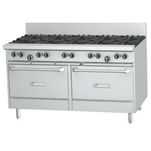 Garland 1500mm 10 Burner & 1 x Standard Oven & 1 x Gas Convection Oven Range
