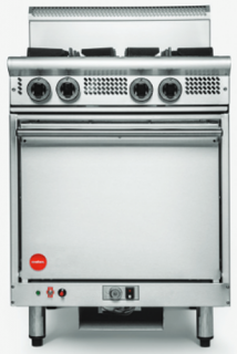 Cookon 4 open burner gas Convection Oven Range