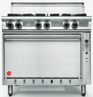 Cookon 6 open burner gas static Oven Range