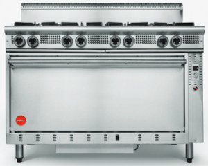 Cookon 8 open burner gas Convection Oven Range