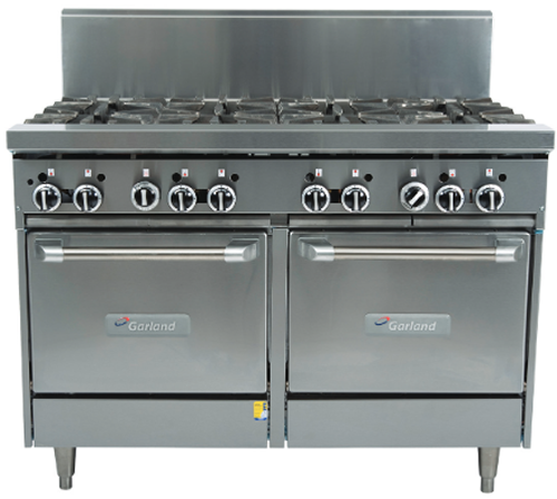 Garland 1200mm 8 Burner & Double Gas Oven Range