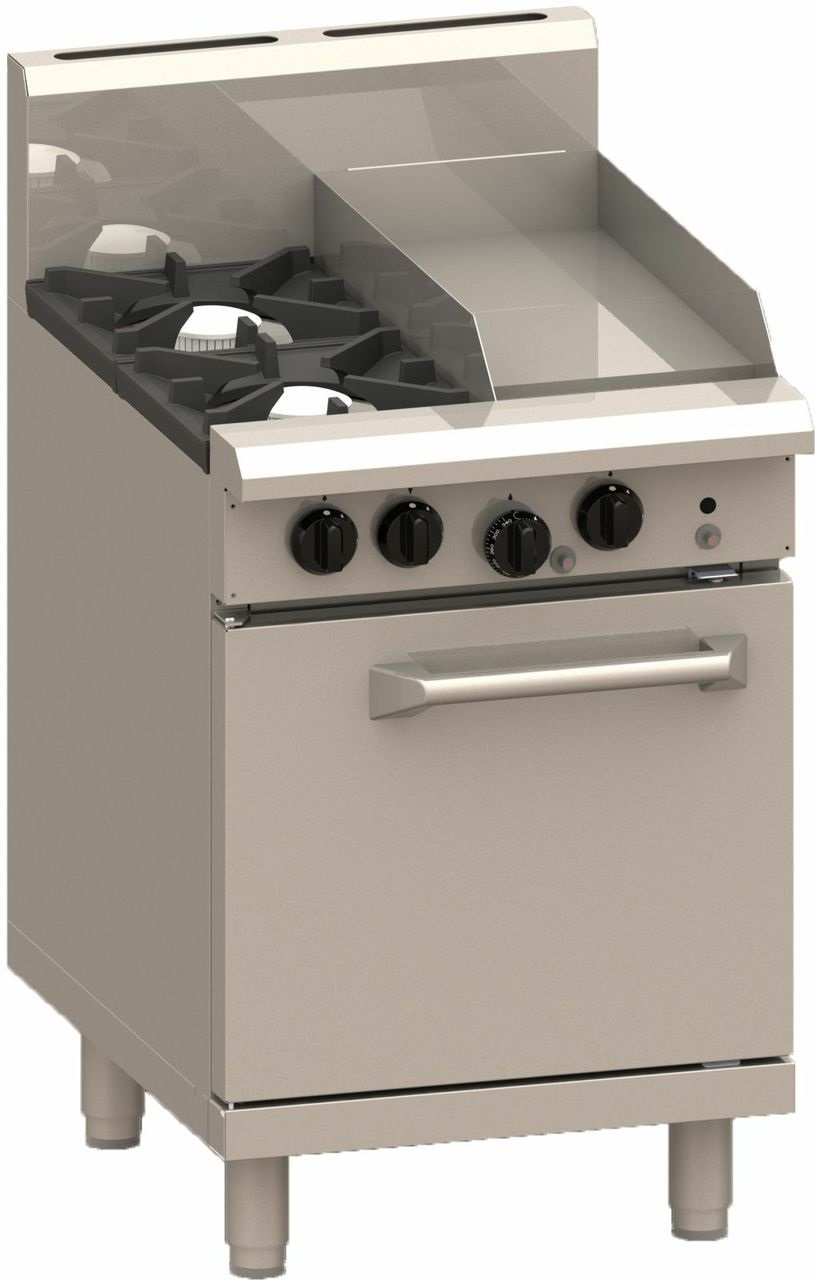 LUUS PRO 2 BURNER 300MM GRILL WITH GAS OVEN RANGE