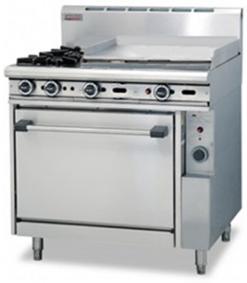 Trueheat two open burner with 600mm griddle plate gas static Oven Range