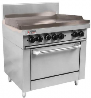 Trueheat 900mm Griddle Plate Gas Static Oven Range 900mm Wide