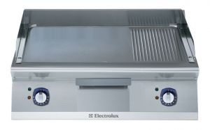 Electrolux 700XP 800mm wide Electric Griddle Ribbed & Chrome Plated