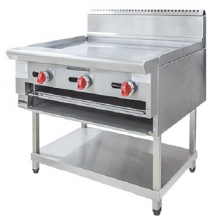 American Range 609mm Wide Griddle & Salamander On Stand