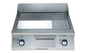 Electrolux 900XP 800mm wide Electric Griddle Chrome & Ribbed Plate