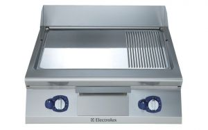 Electrolux 900XP 800mm wide Gas Griddle Chrome & Ribbed Plate