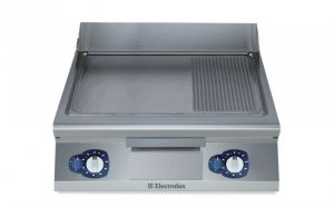 Electrolux 900XP 800mm wide Gas Griddle Smooth & Ribbed Plate