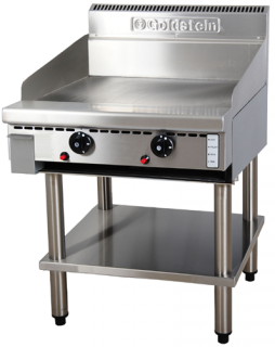 Goldstein 800 series 610mm Wide Gas Griddle on stand