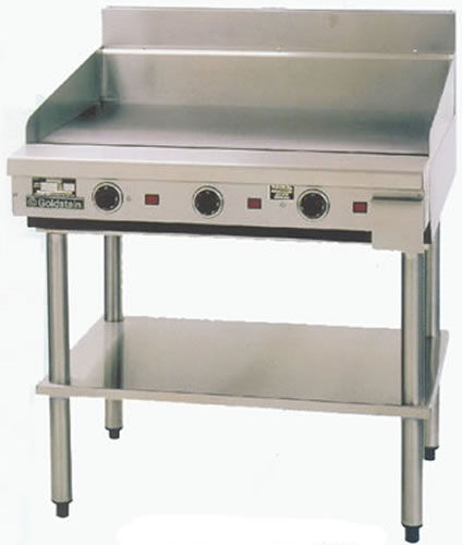 Goldstein 800 series 915mm Wide Gas Griddle on stand