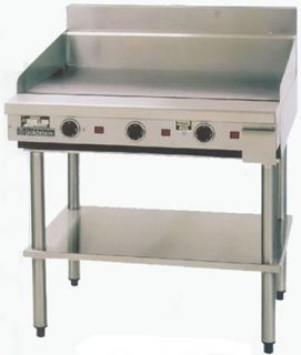 Goldstein 800 series 1220mm Wide Gas Griddle on stand