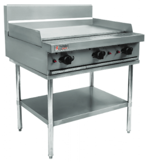 Trueheat 900mm Natural gas Griddle on stand