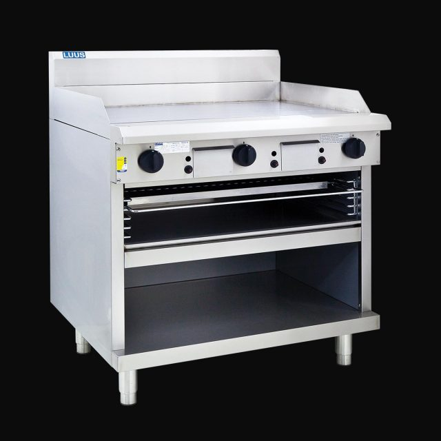 LUUS 900MM WIDE GRIDDLE & TOASTER