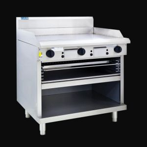 LUUS 900mm wide gas Griddle & Toaster