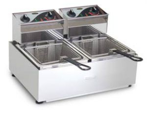 Roband Double Pan 2 x 5 Ltr Double Basket Electric Fryer