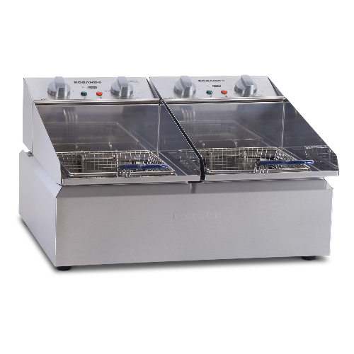 Roband Frypod 2 x 5 Ltr Double Pan Double Basket Countertop Fryer