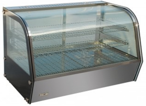 Bellevista 678m Wide 3 Level curved Glass Hot counter top Display