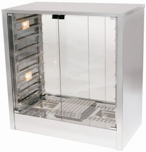 woodson Pro Series Pie Warmer With solid glass front