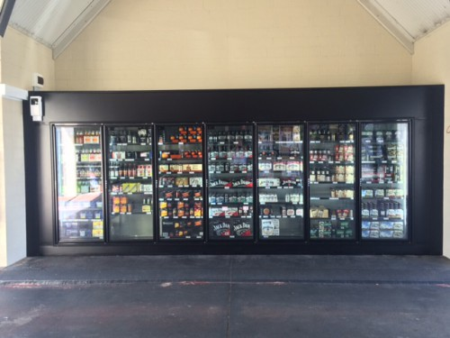 Custom Made Drinks Display Cool Room <br />7 Mile Inn