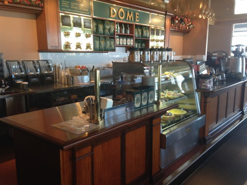 Practical Products custom Made Shop front Display<br />Dome Cafe Franchises