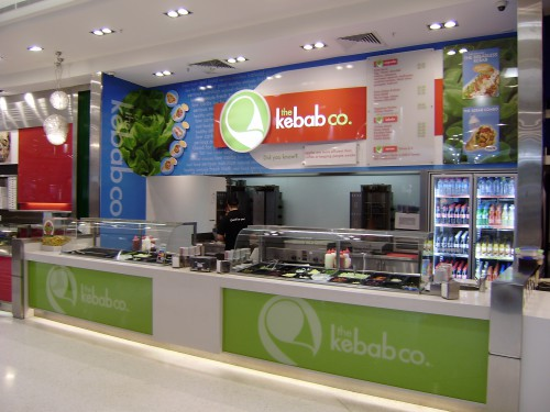 Practical Products custom Made Shop front Display<br />The Kebab Co