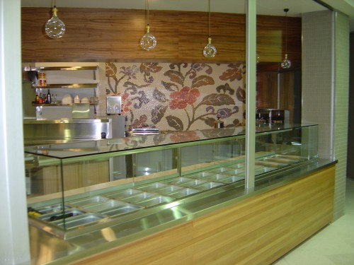 Practical Products custom Made Shop front Display<br />Lunches Downunder