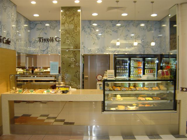 Practical Products custom Made Shop front Display<br />Tivoli Cafe