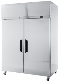 Williams Topaz Double Solid Door Upright Fridge Stainless Steel finish