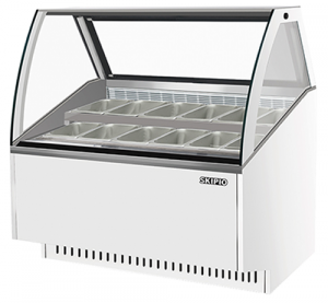Skipio 12 pan Gelato display White