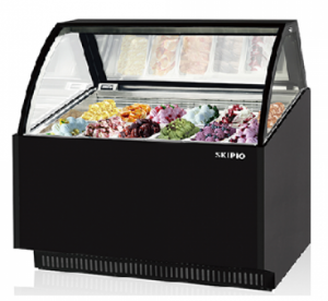 Skipio 12 pan Gelato display Black