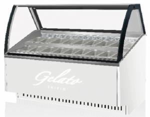 Skipio 16 pan Gelato display White