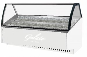 Skipio 18 pan Gelato display White