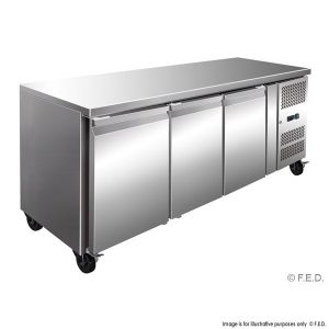 Thermaster Tropical Triple Door Work Bench Freezer